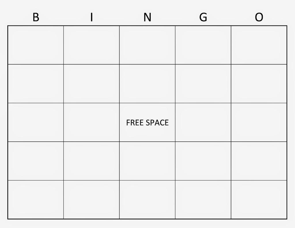 Một bảng Bingo còn trống (Ảnh: Planning Play Time)