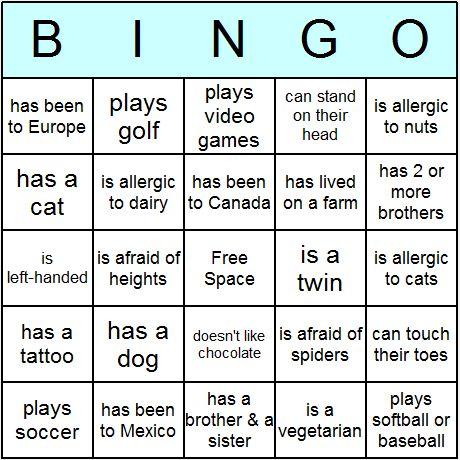 Mẫu bảng trò chơi Bingo có thể áp dụng với các nhân vật trong truyện. (Ảnh: Pinterest)