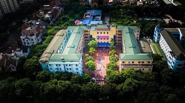Hình ảnh trường Lômônôxốp nhìn từ trên cao.