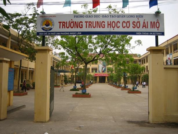 Ái Mộ - trường THCS công lập quận Long Biên, Hà Nội (Ảnh: Địa chỉ bỏ túi)