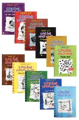 Bộ sách Nhật ký chú bé nhút nhát 11 cuốn (Ảnh: Fahasa)