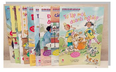 Bộ sách Kĩ năng và kiến thức xã hội dành cho trẻ tiểu học và trung học (Ảnh: Gia Định Books)