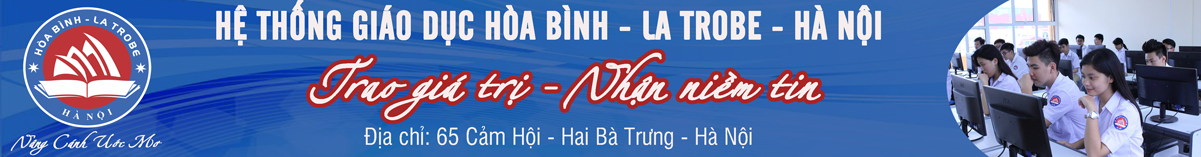 Logo trường Hoà Bình La Trobe Hà Nội (Ảnh: website nhà trường)