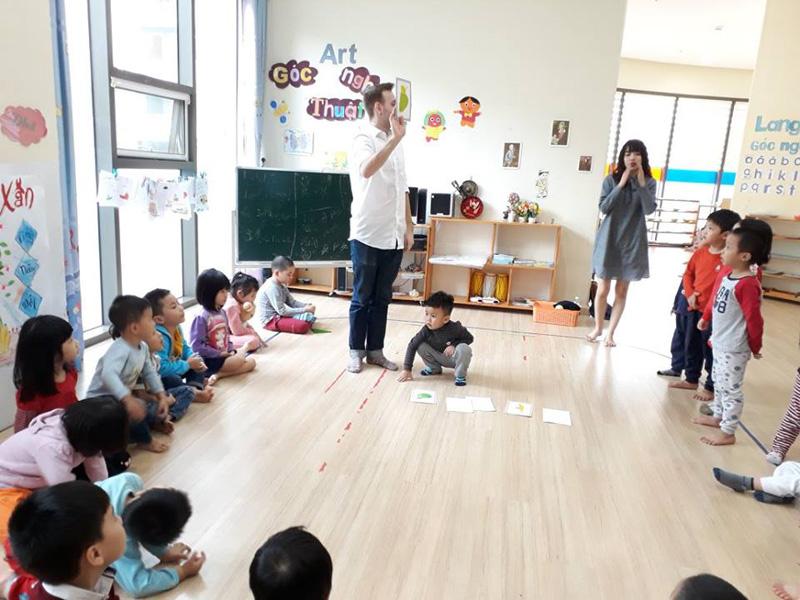 Cơ sở vật chất trường mầm non quốc tế Việt Hàn Montessori tại quận Hà Đông, Hà Nội (Ảnh: MarryLiving)