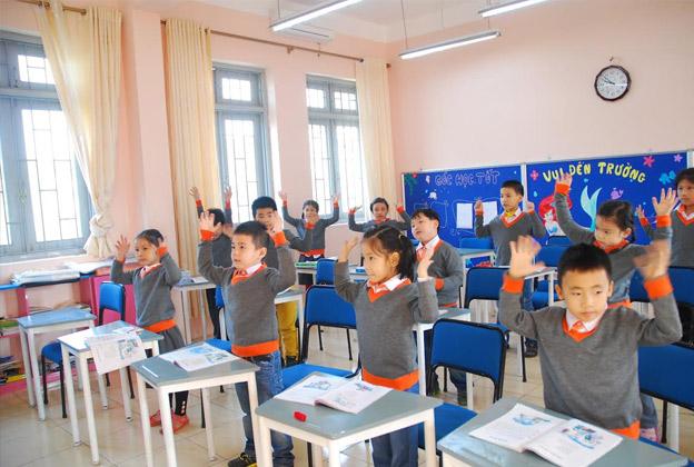 Cơ sở vật chất trường Nguyễn Văn Huyên, trường dân lập liên cấp từ mầm non tới THPT, quận Đống Đa, Hà Nội (Ảnh: Marryliving)