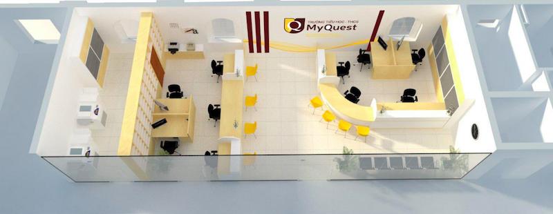 Cơ sở vật chất trường MyQuest - trường Tiểu học, THCS tư thục chất lượng cao, cơ sở thực hành của Đại học Sư Phạm Hà Nội, địa chỉ tại quận Cầu Giấy (Ảnh: website nhà trường)