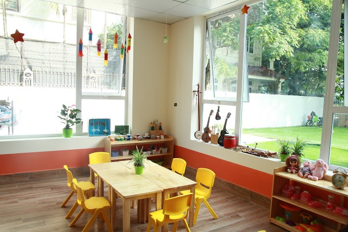 Cơ sở vật chất trường mầm non New Sun tại quận Nam Từ Liêm, Hà Nội (Ảnh: website trường)