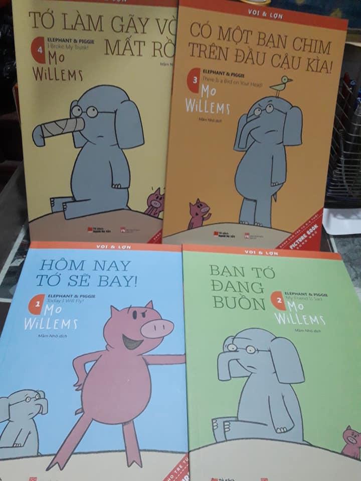 Bộ sách về Voi và Lợn của tác giả Mo Willems (Ảnh: Nhà sách Nam Trung Yên)