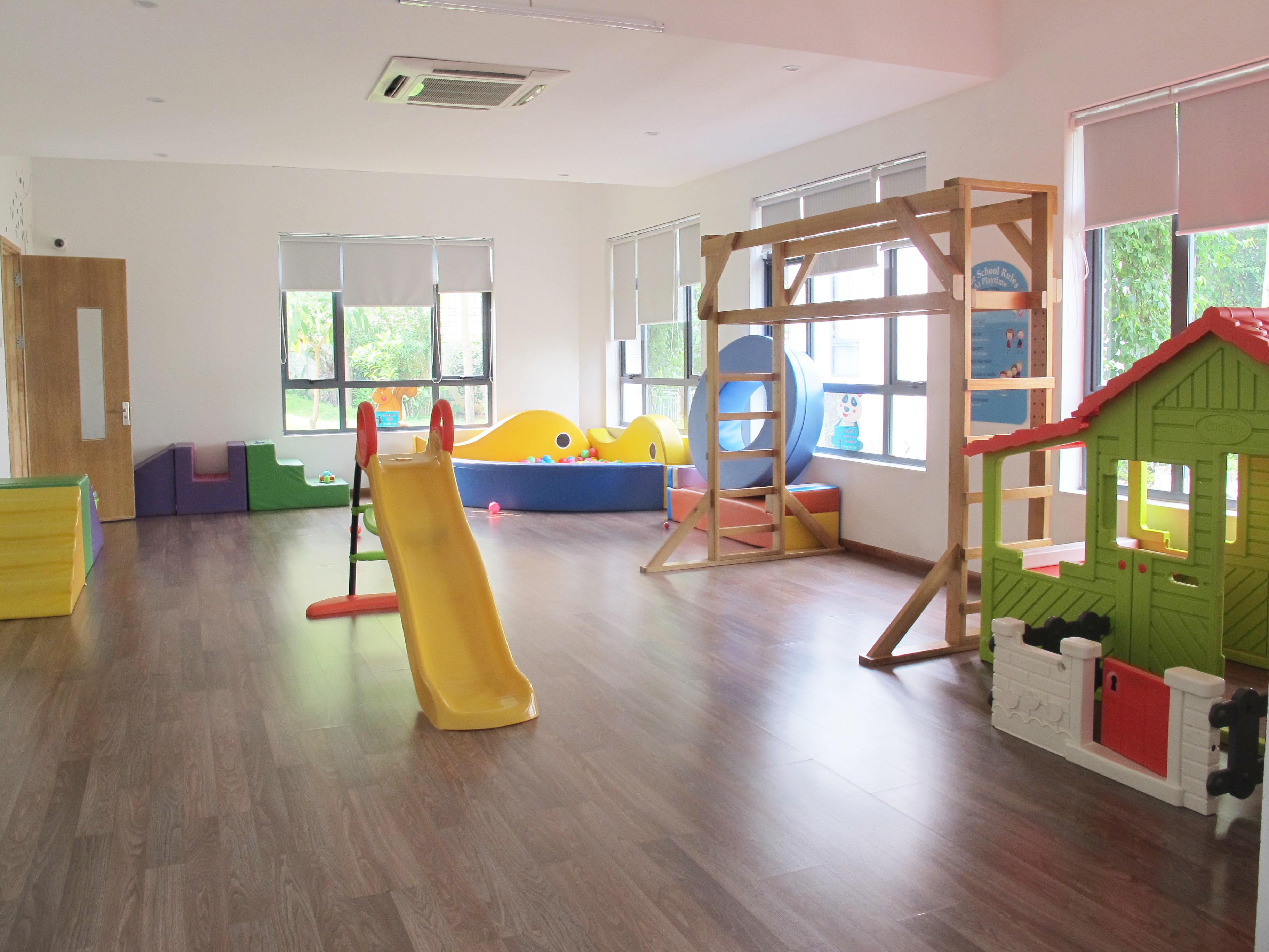 Cơ sở vật chất trường mầm non Peace School, quận Cầu Giấy, Hà Nội (Ảnh: website trường)