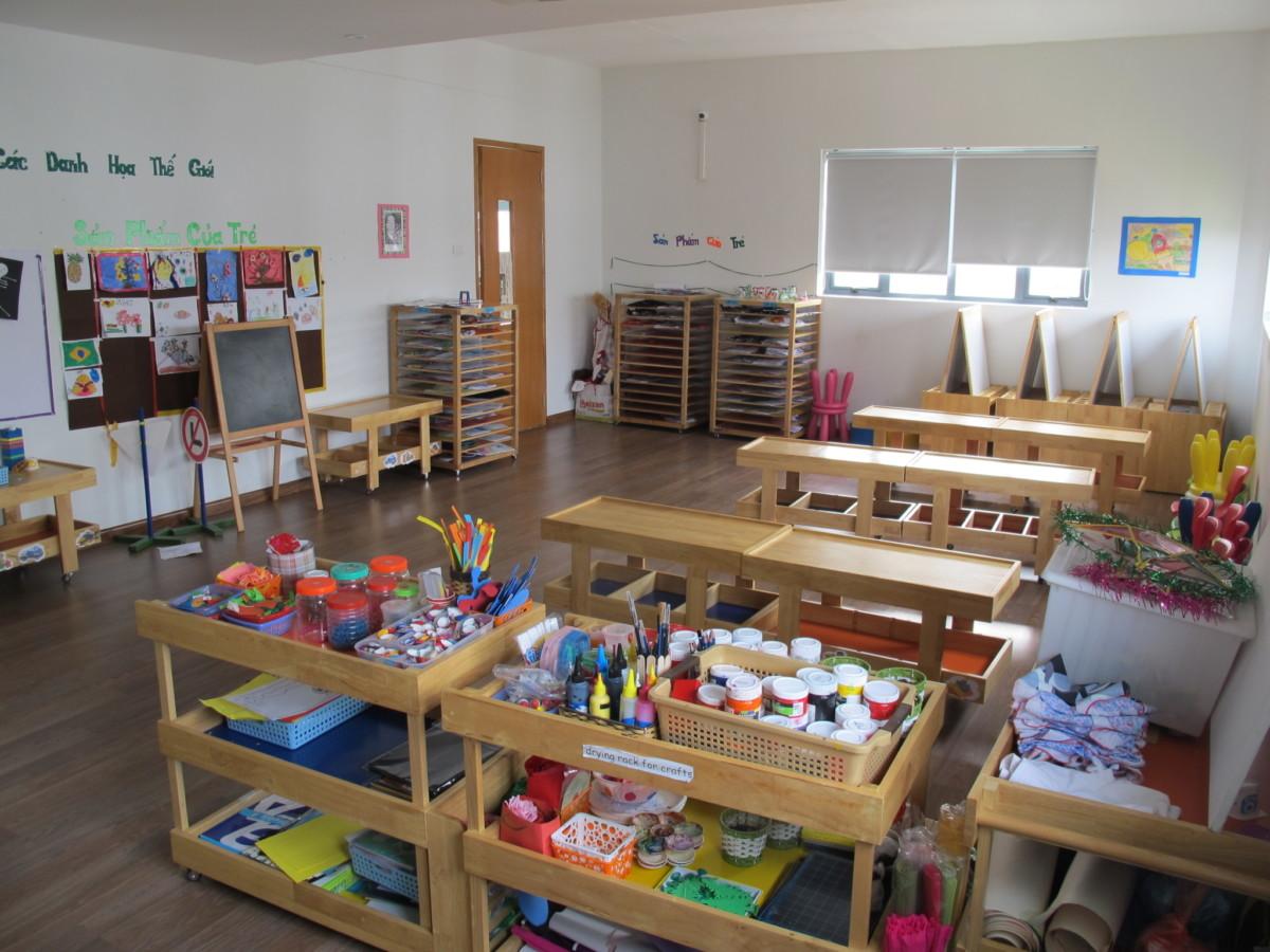 Cơ sở vật chất Trường mầm non Peace School, quận Cầu Giấy, Hà Nội (Ảnh: FB trường)