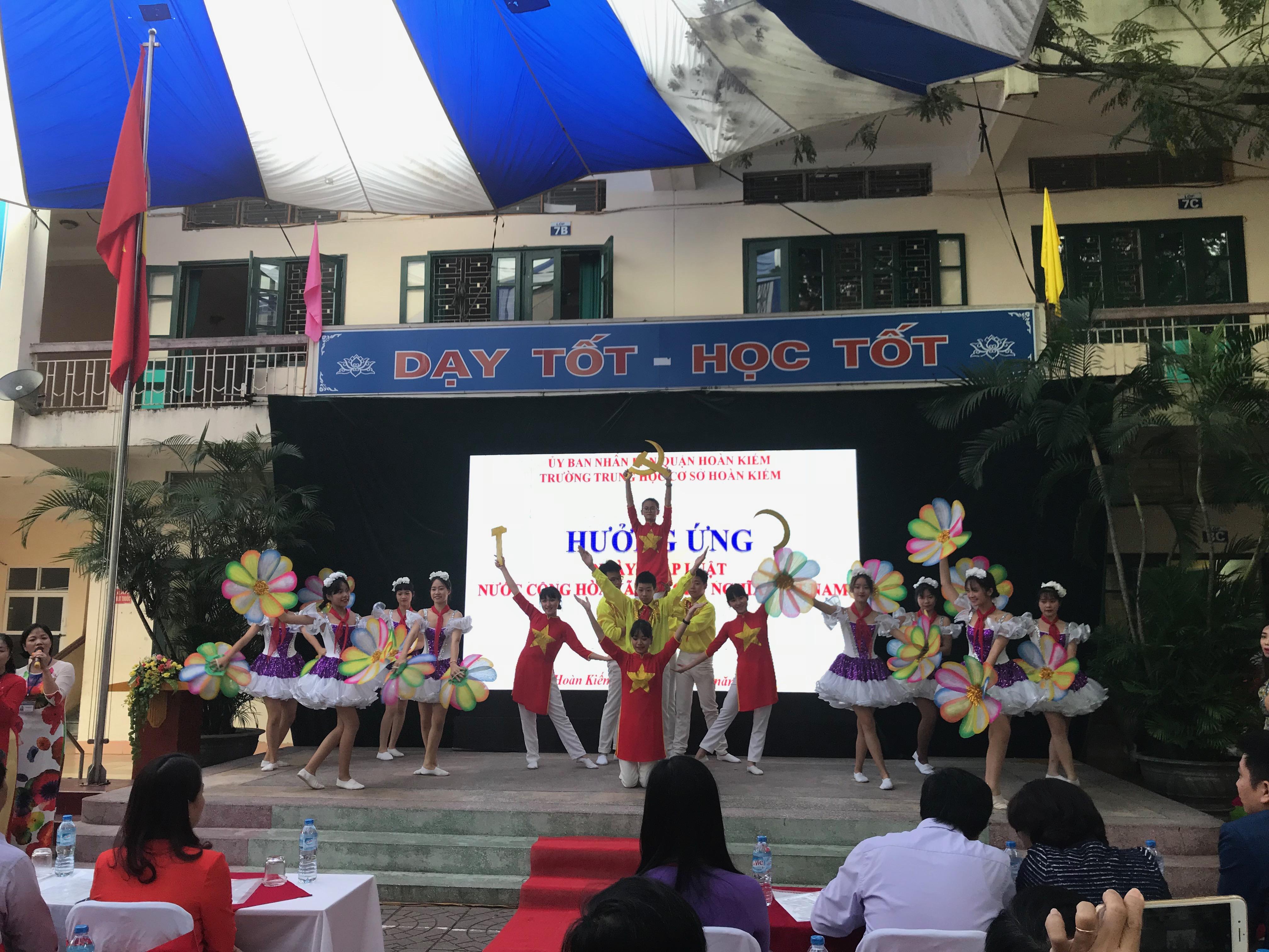 Trường THCS Hoàn Kiếm, quận Hoàn Kiếm, Hà Nội (Ảnh: Phòng Giáo Dục Quận Hoàn Kiếm)