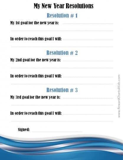 Hướng dẫn chi tiết cách giúp bé đặt mục tiêu năm mới (Ảnh: Reward Charts 4 Kids)