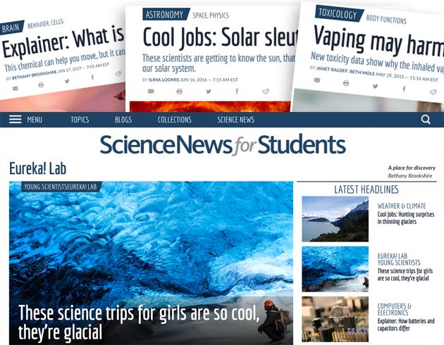 7 website khoa học tốt nhất dành cho trẻ (Ảnh: Society for Science & the Public)