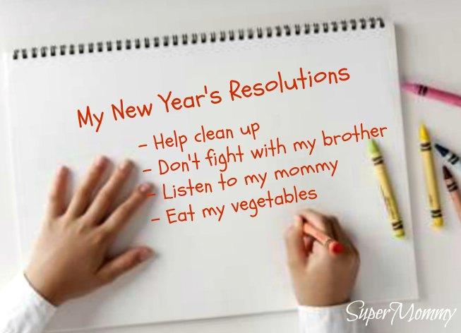 Hướng dẫn cách giúp bé đặt mục tiêu năm mới (Ảnh: Super Mommy)