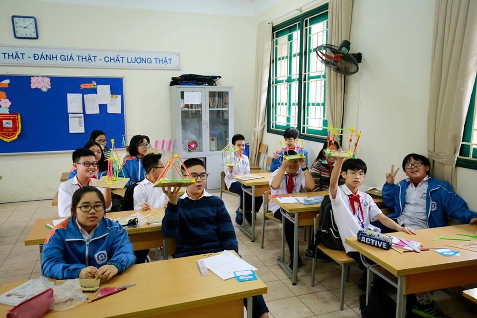 Cơ sở vật chất trường Dân lập Tạ Quang Bửu - trường THCS, THPT quận Hai Bà Trưng, Hà Nội (Ảnh: website nhà trường)