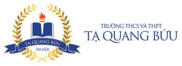 Logo trường Dân lập Tạ Quang Bửu - trường THCS, THPT quận Hai Bà Trưng - Hà Nội (Ảnh: website nhà trường)