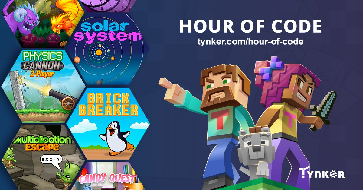 Hình ảnh giới thiệu Hour of Code trên trang web dạy lập trình Tynker (Ảnh: Tynker)
