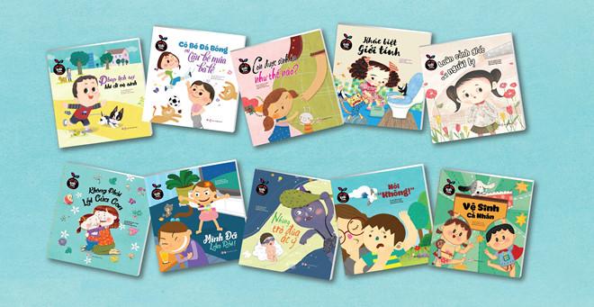 Bộ sách giáo dục giới tính 10 cuốn của NXB Phụ nữ