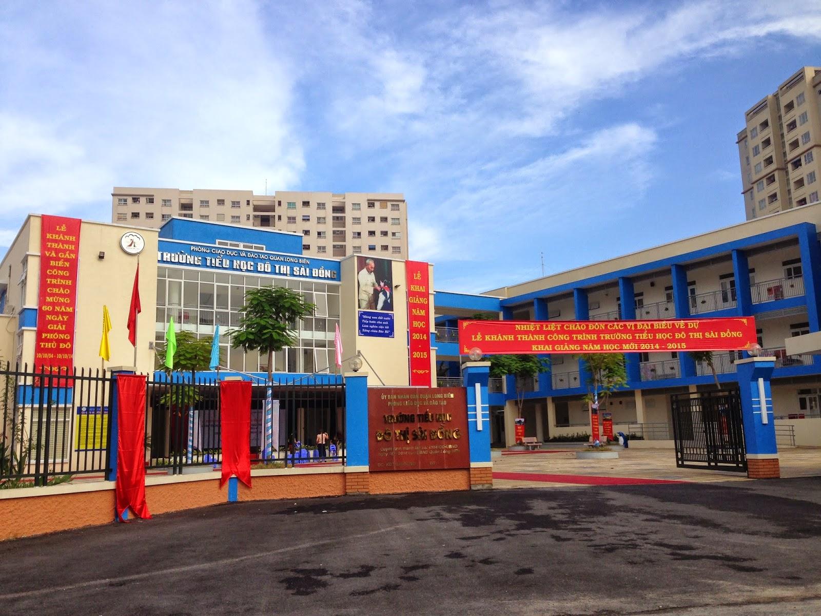 Cơ sở vật chất Tiểu học đô thị Sài Đồng (Ảnh: website UBND Sài Đồng, quận Long Biên)