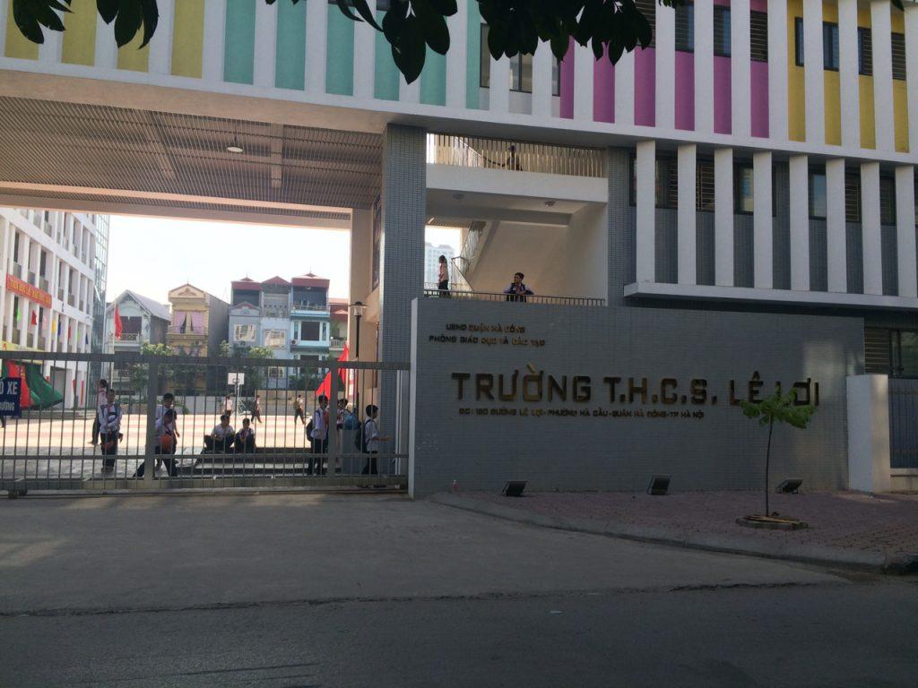 Trường THCS Lê Lợi Hà Đông (Ảnh: Báo thương hiệu và công luận))