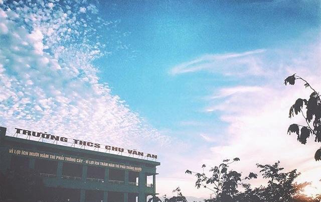 Trường THCS Chu Văn An - Thanh Trì - HN (Ảnh: FB Chu Văn An Confession)