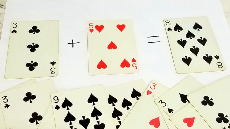 Trò chơi toán học với bộ bài Tây (tú lơ khơ)