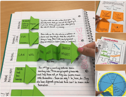 Tải miễn phí một số mẫu vở tương tác (Interactive notebooks)