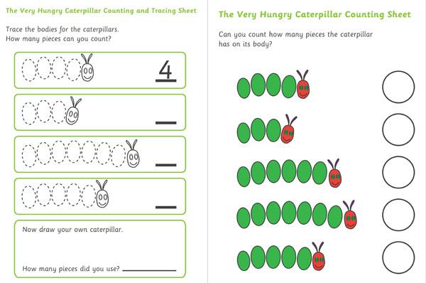 Chi tiết hoạt động đi kèm sách: The Very Hungry Caterpilar (Ảnh: Early Learning HQ)